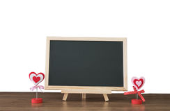 A blank school black board on white background. Stock Photo