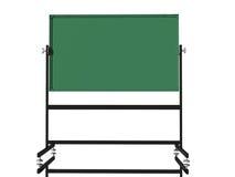 Blank green school chalk board Stock Image