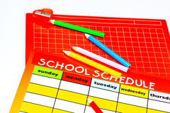 Blank school schedule. Back to school Stock Image