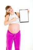blank schowek target1227_0_ kobieta w ciąży Obraz Stock