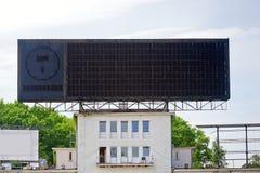 Blank scoreboard Stock Photos