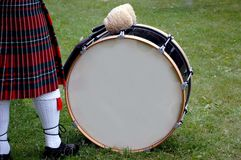 Blank scottish bass drum Royalty Free Stock Photography