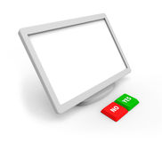 A blank screen. And two buttons on a white background Stock Illustration