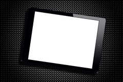 Blank Screen Black Tablet Pc Grid Metallic Stock Photography