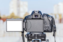 Blank screen on camera Royalty Free Stock Photography