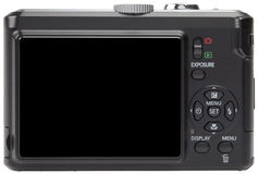 Blank screen on a compact digital camera Royalty Free Stock Images
