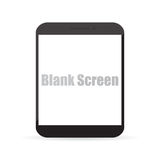Blank screen of computer tablet. Vector illustration EPS10 Royalty Free Stock Photos