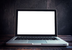 Blank screen on laptop Stock Photography