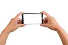 Blank screen mobile phone isolated Royalty Free Stock Image