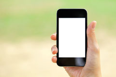 Blank screen mobile phone Stock Images