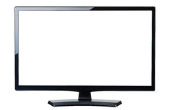 Blank screen monitor tv isolated royalty free stock photography