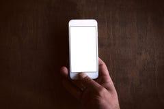 Blank screen phone Stock Photography