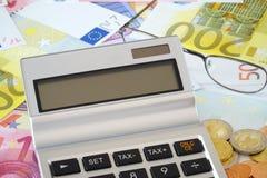 Blank screen of a pocket calculator Stock Photo