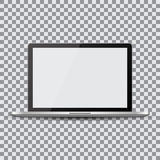 Blank screen. Realistic laptop on a transparent background Stock Images
