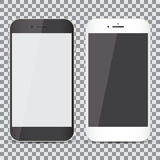 Blank screen. Set of realistic smartphone on a transparent background Royalty Free Stock Photography