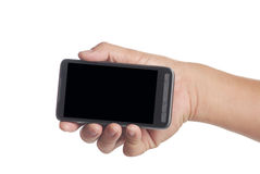 Blank screen smart phone Stock Images
