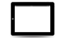 Blank screens black tablets pc horizontal Stock Photos