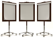 Blank Screens on white background Stock Photography