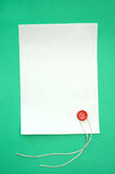 Blank scroll. And seal stamper stock image