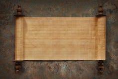 Blank Scrolls Open Stock Image