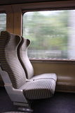 Blank seats in the train Stock Photography