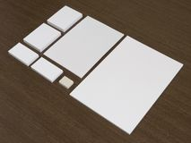 Blank set of corporate identity templates Stock Image