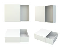 Blank set open box isolated on white background. 3d rendering Stock Photo