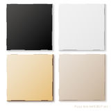 Blank set of pizza box template. Mock up with shadows Royalty Free Stock Photo