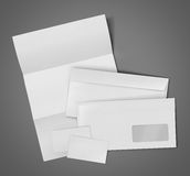 Blank Set Stationery Corporate ID Stock Photography