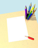Blank sheet Stock Photos