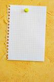 Blank sheet Stock Photography