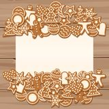 Blank sheet for Christmas and New Year`s greetings Stock Photo