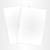 Blank sheet and layer. Blank and space paper sheet on layer Royalty Free Stock Images