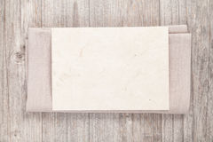 Blank sheet on napkin Royalty Free Stock Photography