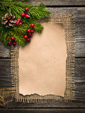 Blank sheet for New Year's greetings Royalty Free Stock Photos