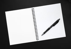 Blank sheet of notebook Royalty Free Stock Image