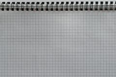 Blank sheet of notepad with rings Stock Photos