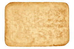 Blank sheet of old paper Royalty Free Stock Photo