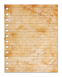 Blank sheet of paper. Isolated on white with clipping path stock illustration