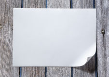 Blank sheet of paper Royalty Free Stock Images