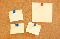 Blank sheet of paper on bulletin board Royalty Free Stock Photography
