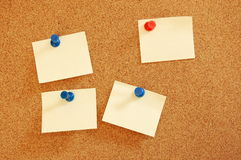 Blank sheet of paper on bulletin board Royalty Free Stock Photos