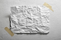 Blank sheet of paper crumpled Royalty Free Stock Images