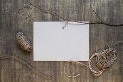 Blank sheet of paper and decoration Stock Image