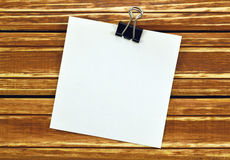 Blank a sheet of paper for messages Stock Image