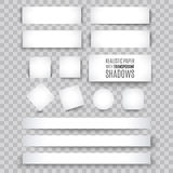 Blank sheet of paper with page curl and shadow, design element Stock Image