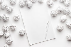 Blank sheet of paper and pen Royalty Free Stock Photography