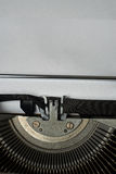 Blank sheet of paper, ready to type words on Vintage Typewriter Royalty Free Stock Photography