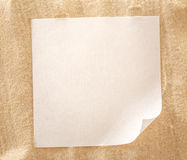 Blank sheet of paper on sand Stock Photo