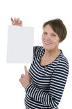 Blank sheet of paper satisfied Royalty Free Stock Images